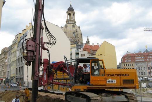 Spezialtiefbau Verbauarbeiten - Verbau in Dresden Altstadt - Kleber Heisserer