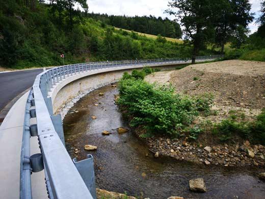 Stützwände - Stützwand bei Cunnersdorf / Sächs. Schweiz - Kleber Heisserer